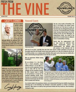 The Vine Houweling's Tomatoes Newsletter August 2013